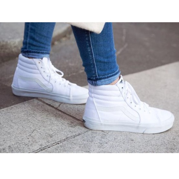 289de5df5a Vans Hi-Top Shoes- All White ✨